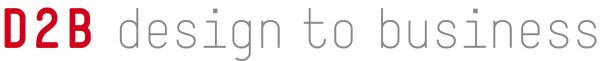 Logo D2B, Design to Business, Designtobusiness